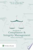 Handbook of Compliance   Integrity Management