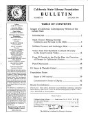 California State Library Foundation Bulletin