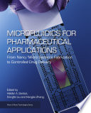 Microfluidics for Pharmaceutical Applications