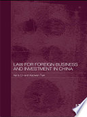Law For Foreign Business And Investment In China Book PDF