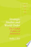 Strategic Studies and World Order