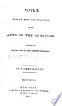 Notes  Explanatory and Practical  on the Acts of the Apostles