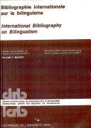 Pdf Bibliographie internationale sur le bilinguisme Telecharger