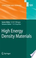 High Energy Density Materials