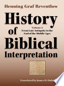 History Of Biblical Interpretation Volume 2