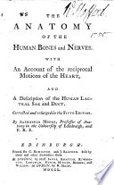 The Anatomy of the Human Bones and Nerves     Corrected and Enlarged in the Fifth Edition