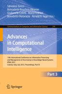 Advances in Computational Intelligence  Part III