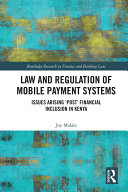 Law and Regulation of Mobile Payment Systems Pdf/ePub eBook