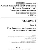 Proceedings of the ASME International Design Engineering Technical Conferences and Computers and Information in Engineering Conference 2005