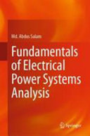 Fundamentals of Electrical Power Systems Analysis Book