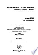 Proceedings of the ... Congress of the International Comparative Literature Association