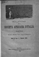 Africa bollettino della Società africana d'Italia