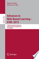 Advances In Web Based Learning Icwl 2013 Book PDF