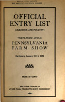 Official Catalog Entry List, Livestock and Poultry, Pennsylvania State Farm Show ebook