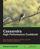 Cassandra High Performance Cookbook