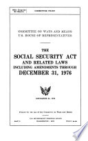 The Social Security Act And Related Laws