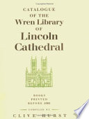 Read Online Catalogue of the Wren Library of Lincoln Cathedral For Free