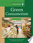 """Green Consumerism: An A-to-Z Guide"" by Juliana Mansvelt"