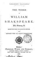 The works of William Shakspeare, life, glossary &c. repr. from the orig. ed. and compared with all recent commentators