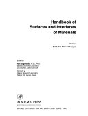Handbook of Surfaces and Interfaces of Materials  Solid thin films and layers Book