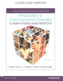 Introduction to Communication Disorders With Video-Enhanced Pearson Etext Passcode