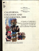 California Colleges and Universities