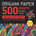 Origami Paper 500 Sheets Tie Dye Patterns 6  15 Cm