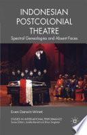 Indonesian Postcolonial Theatre Book PDF