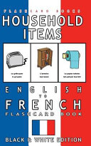 Household Items - English to French Flash Card Book