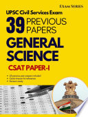 General Science – 38 Previous Papers –CSAT Paper I – Civil Services Exam 1nd Edition