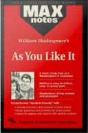 As You Like It  MAXNotes Literature Guides