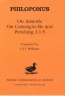On Aristotle On Coming to be and Perishing 1 1 5