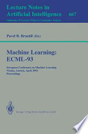 Machine Learning: ECML-93