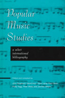 Popular Music Studies  Select I