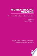 Women Making Meaning