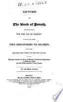 Lectures On The Book Of Jonah