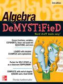 Algebra DeMYSTiFieD, Second Edition [Pdf/ePub] eBook