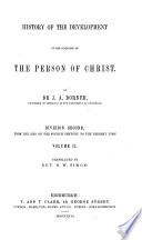 History Of The Development Of The Doctrine Of The Person Of Christ Tr By W L Alexander And D W Simon Division 1 2 Vols Division 2 3 Vols