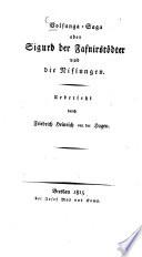 Volsunga-Saga oder Sigurd der Fafnirstoedter und die Niflungen