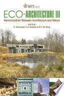Eco architecture III Book