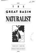 The Great Basin Naturalist