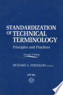 Standardization of Technical Terminology