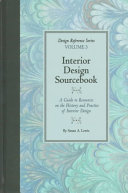 Interior Design Sourcebook Book