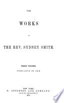 The Works Of The Rev Sydney Smith Critical And Miscellaneous Writings Of T Noon Talfourd Critical And Miscellaneous Essays Book PDF