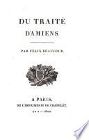 Du traité d'Amiens ...