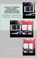 Legal Terms English Spanish for Translators