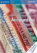 Cambridge IGCSE® and O Level Accounting Coursebook