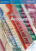 Books - New Cambridge Igcse� And O Level Accounting Coursebook | ISBN 9781316502778