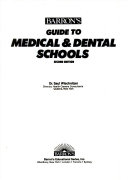 Barron S Guide To Medical Dental Schools