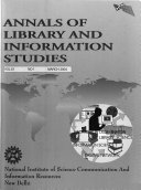 Annals Of Library And Information Studies